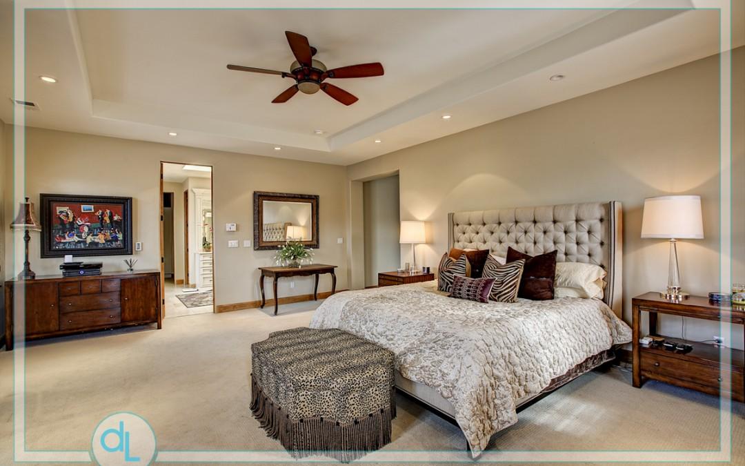 Master Bedroom is 17 x 21'